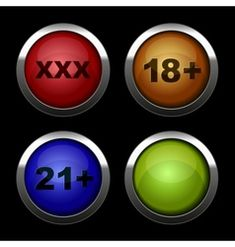 Xxx buttons icons set Red orange blue and green vector Meet Girls Online, Girl Online, Funny Movie Scenes, Funny Movies, Free Online Tv Channels, Video Downloader App, Best Love Songs, Red Sign, Icon Set
