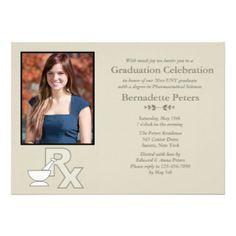 photo pharmacy invitation announcement card for school graduations at GraduationCardsShop.com