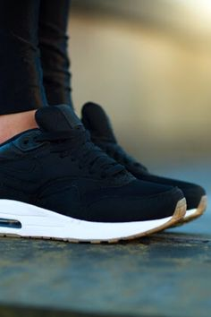 // nike air in black velvet