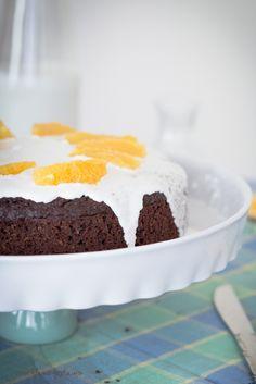 Dark chocolate quinoa cake