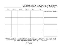 FREE Summer Reading Chart printable