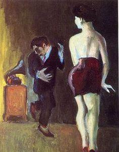 """Humareda. """"Marilyn, la vitrola y yo"""" 1972. Óleo sobre lienzo. 80x60. Colección particular"""