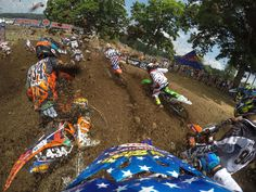 Photo of the Day! Luke Renzland charges through the pack at Muddy Creek Tennessee. Photo captured using .5s intervals on Time-Lapse mode. #GoPro #GoProMoto