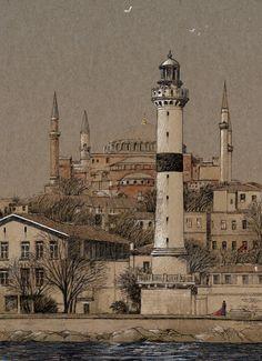 ahirkapi feneri , istanbul Pisa, Istanbul, Architecture, Building, Travel, Arquitetura, Viajes, Buildings, Destinations