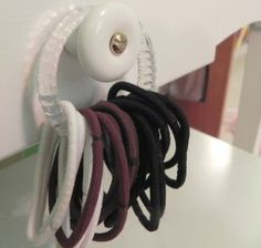Shower Curtain Ring Organizing Ideas - New Uses for Shower Curtain Hooks                                                                                                                                                                                 More