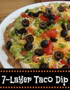 7-Layer Taco Dip - I'm making this for my Superbowl party!