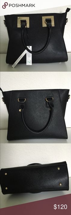 🆕LONDON FOG BLACK TOTE This is a brand new London Fog Black Tote Bag  - Handles attached by signature plate hardware - Dome studs on the bottom of the bag - 1 removeable zipper interior pockets; 1 exterior slip pocket;  - Product Dimensions: 14.4 x 11.7 x 5 inches🆓 ✅ Free $5 or less item in my closet with any purchase ✅ I love to receive offers. 15% off bundle of 2 or more. Higher discount considered for larger bundles ❌No trades. London Fog Bags Totes