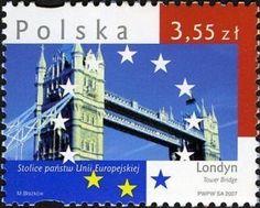 Tower Bridge London, National Symbols, Capital City, Geography, Poland, History, Cities, Stamps, Bridges