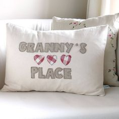 personalised hearts cushion by milly and pip. A great gift for mothers day. Copyright © milly and pip