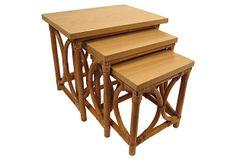 Rattan Nesting Tables, Set of 3 on OneKingsLane.com