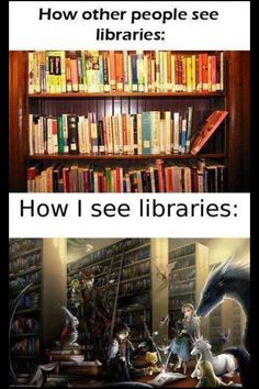 Pretty much one of the happiest places in the world for me. I love libraries!!