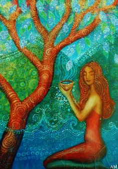 Anahita Water Goddess. by AliceMasonArtist on Etsy
