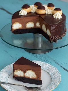 Cookie Recipes, Dessert Recipes, Romanian Desserts, Torte Recepti, Profiteroles, Eclairs, Nutella Cake, Mud Cake, Mousse
