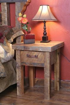 We carry this Wasatch Reclaimed Furniture - Black Mountain Nightstand - 1 Drawer, and other fine American-made rustic furniture and décor. Browse our rustic furniture catalogs now. Reclaimed Wood Nightstand, Reclaimed Wood Projects, Reclaimed Furniture, Reclaimed Barn Wood, All Wood Furniture, Woodworking Furniture, Furniture Stores, Primitive Tables, Rustic Table