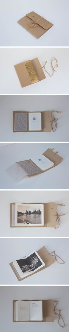 This! This is a perfectly beautiful little book. Book arts, handbound book, bookbinding, kraft