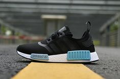 37905661eb61b Adidas NMD R1 Icey Blue Core Black Icey Blue White By9951 Discount Sneaker