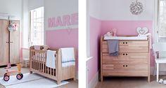 stijlvolle babykamer: ledikant en commode in stoer eikenhout van Purewoood