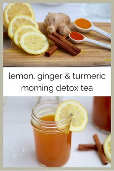 Hypothyroidism Diet Recipes - skip the eye-watering shots of apple cider vinegar and start the day with this flavorful and healing lemon, ginger turmeric detox tea. - Get the Entire Hypothyroidism Revolution System Today Detox Tea Diet, Detox Diet Drinks, Healthy Drinks, Cleanse Detox, Juice Cleanse, Detox Juices, Juice Diet, Stomach Cleanse, Healthy Cleanse