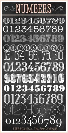 The 36th AVENUE | Number Free Fonts #numberfonts