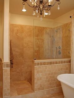 Pictures of walk in showers without doors tiles in traditional bathroom 37 best Bathroom Walk in : tile door - Pezcame.Com