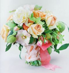 Wedding Ideas: georgia-peach-bouquet