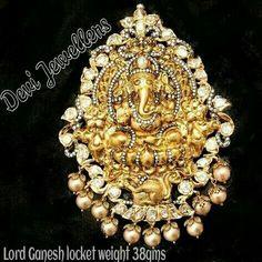 Pacchi work ganesh pendant
