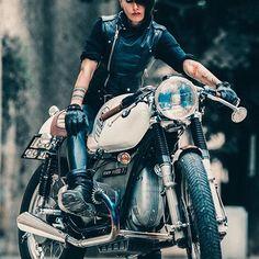 Shooting ... PH @de_ranieri_simone @dafuga_motorcycles #bmw #black #vintage #instamotogallery #instagood #photooftheday #golook #rider #supermoto #ride #instamotorcycle #bikelife #motorcycle #desing #followme #beautiful #girl #red #caferacer #bodyart #sleevetattoo #cool #style #photo #italy #tuscany #grifter #me #instatattoo #instadaily #Regram via @frenchissima