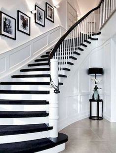 Modern Staircase Design Ideas - Modern stairways can be found in lots of design and styles that can be real eye-catcher in the different area. We've compiled ideal 10 modern versions of stairways that can provide. Winding Staircase, Modern Staircase, Staircase Design, Staircase Ideas, Craftsman Staircase, Black Staircase, Staircase Decoration, Stairway Decorating, Staircase Runner