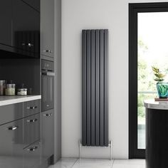Buy the Brenton Flat Single Panel Vertical Radiator - 1800 x online today from Only Radiators at this great price and receive top Customer Care and Free UK Delivery! Upright Radiators, Flat Panel Radiators, Horizontal Radiators, Bathroom Radiators, Kitchen Radiators, Bathroom Cabinets, Central Heating Radiators, Designer Radiator, Room Doors