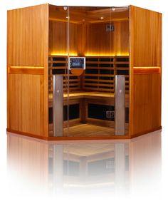 4-5 Person Full Spectrum Corner Sauna