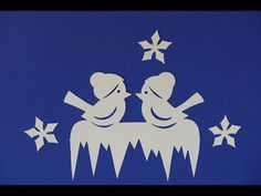 Weihnachtsbasteln /Tiere / animals basteln - Vögel im Winter, filigran - YouTube Woodland Party, Holiday Cocktails, Scroll Saw, Kirigami, Classroom Decor, Paper Cutting, Snefnug, Halloween Party, Board