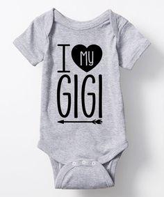 Loving this Athletic Heather 'I Love My Gigi' Bodysuit - Infant on #zulily! #zulilyfinds