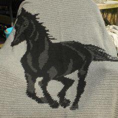crochet horse afghan - Google Search