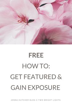 Join Jenna and guest Meghan Brown of Two Bright Lights as they share all their best tips on getting published and gain exposure for FREE> Make Money Blogging, How To Make Money, How To Get, Writing A Book, Writing Tips, Blog Writing, Photography Business, Photography Tips, Web Design