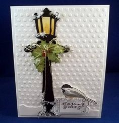 Christmas light post card | Tim Holtz