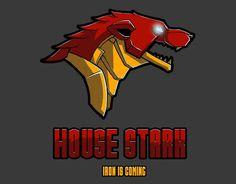 House Stark T-Shirt Designed by BrushRabbit