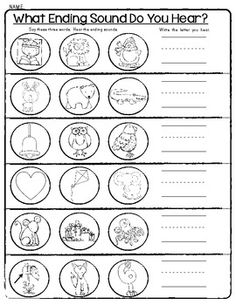 math worksheet : beginning middle and end sounds worksheets : Ending Sound Worksheets For Kindergarten
