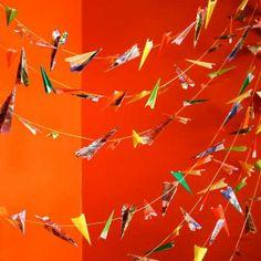 Make A Paper Airplane Garland   Michele Made Me