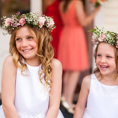My flower girls will definitely be wearing flower crowns like these! How cute!