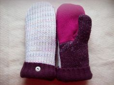 recycled sweater mittens handmade upcycled by JewelrybyJayne, $16.95