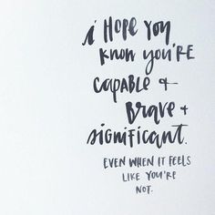 Be strong and know you are capable #TCLinspiration