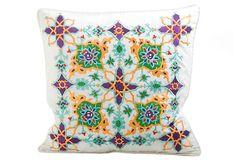Rangoli 20x20 Pillow, White/Multi on OneKingsLane.com