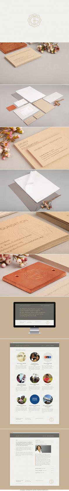 Corporate design letter head envelop business card cardboard eco logo branding letterpress embossed minimal website