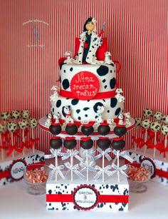 101 Dalmatians - Cake by Brana Adzic Dalmatian Party, Puppy Party, Boy Birthday Parties, Birthday Wall, Birthday Cupcakes, Birthday Celebration, Kids Party Themes, Party Ideas, Dog Cakes