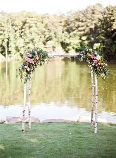 Floral ceremony arch // Mandy Busby Creative