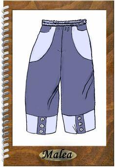 Das Basic-Teil für jeden Lagenlook-Fan!!!  *Designer Schnittmuster Hose Malea*   Eine weitere wahnsinns weite, super - tolle Hose mit toller Taschenlösung und witzigen Knöpfen... Je nach Material...
