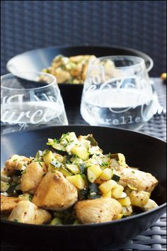Du poulet de la courgette et de la féta