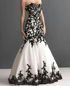 Black & white wedding dress (: hmmmm