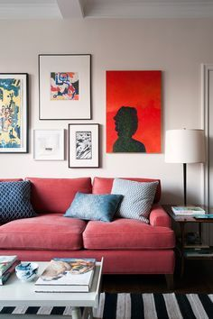 RED LIVING ROOMS The color of passion, red will definitely give a great strong spirit to your interior! But its wide palette allows for a large variety of ambiences. Get inspired! #reddesign #designsummertrends #summercolors