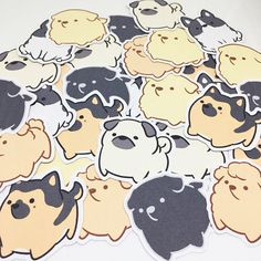 Chubby Dog Sticker Set B